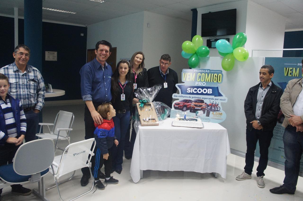 Sicoob comemora quatro anos em Laranjeiras do Sul e lança promoção