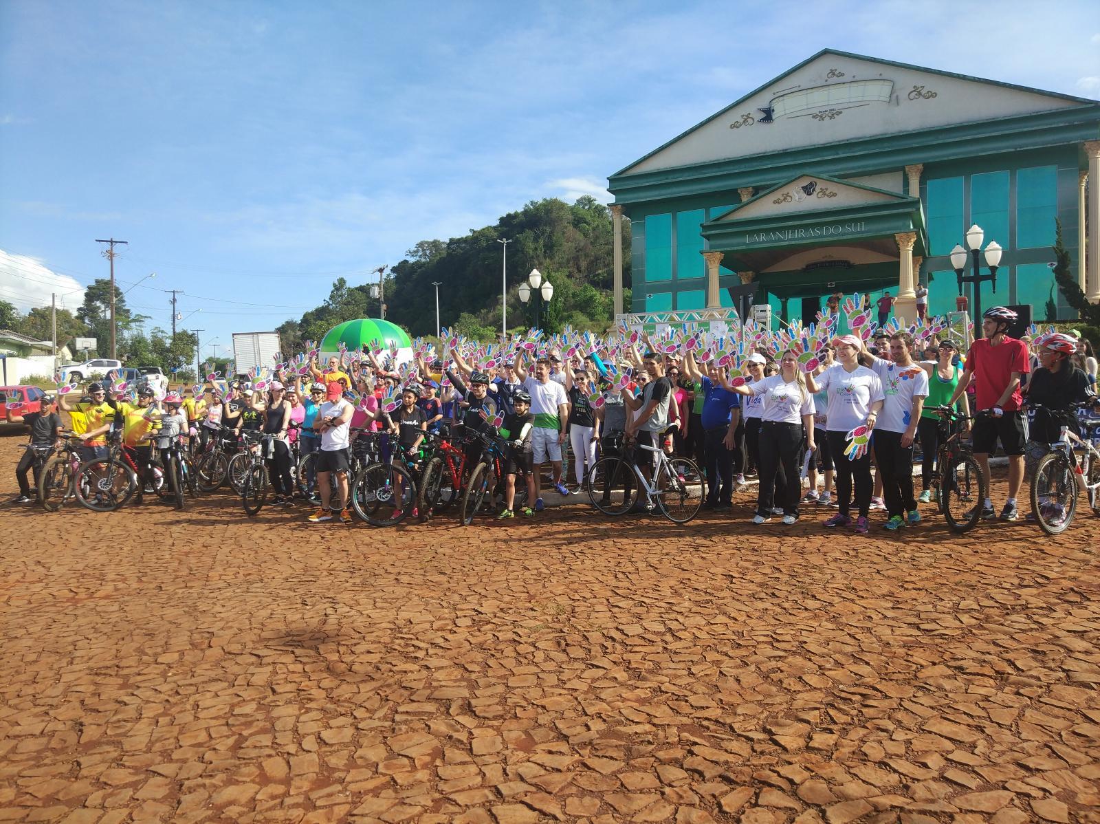 Participação na 3ª Caminhada e pedal solidário em comemoração ao Dia do Cooperativismo superou a expectativa