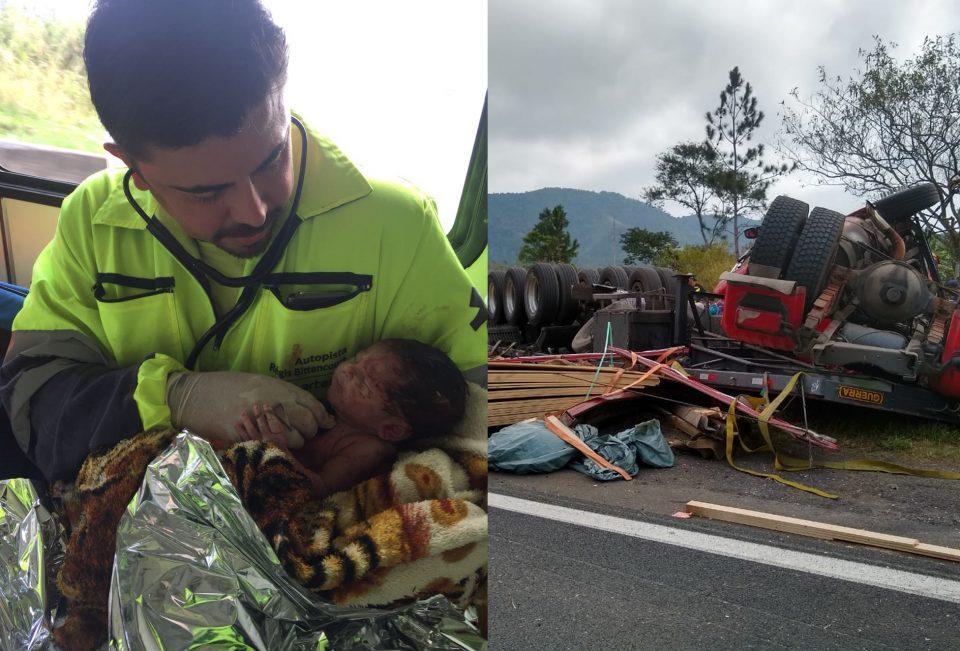 Mulher grávida morre em acidente e bebê nasce por 'milagre' na BR-116