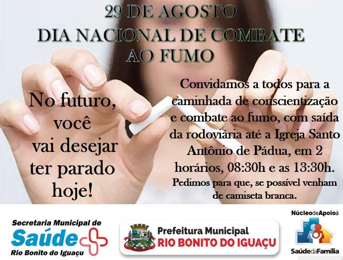 Caminhada de combate ao fumo será realizada hoje em Rio Bonito do Iguaçu