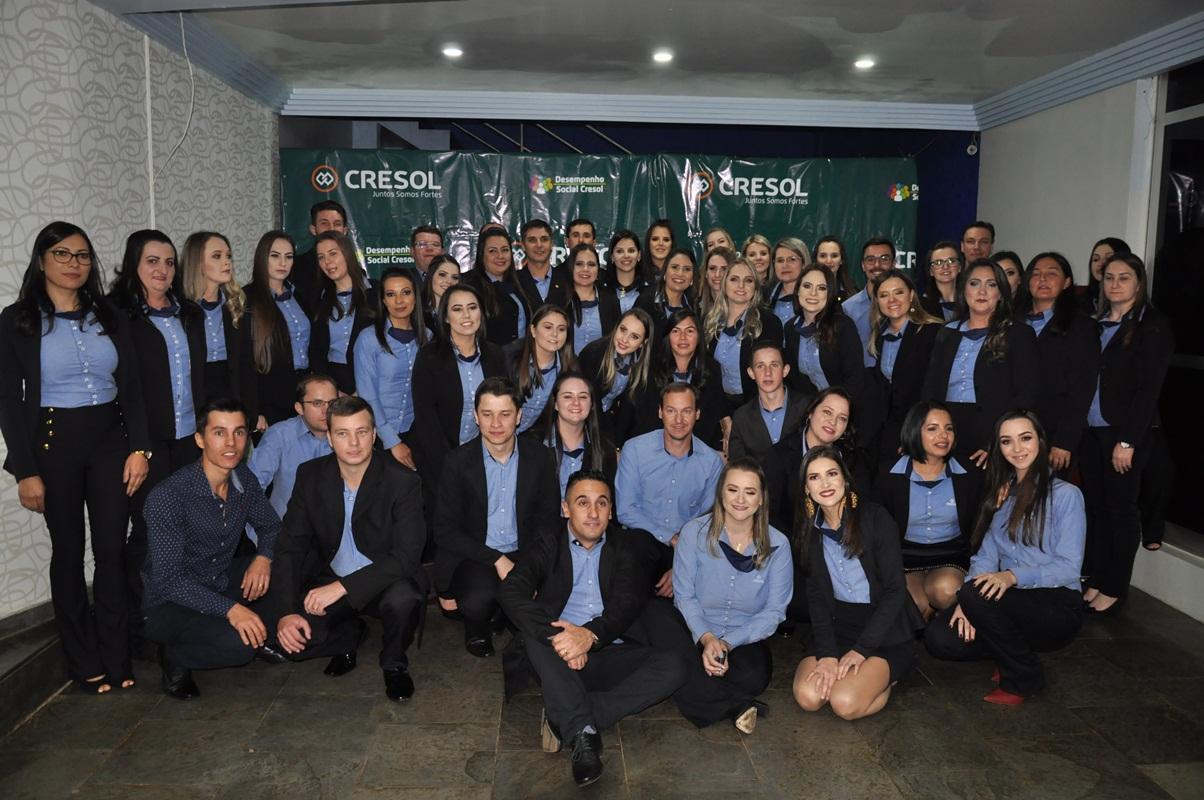 Cresol comemora conquista de Selo A com quadro colaborativo e parceiros