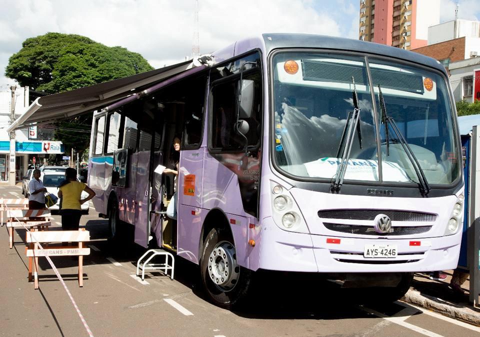 Onibus lilás está hoje em Cantagalo atendendo mulheres