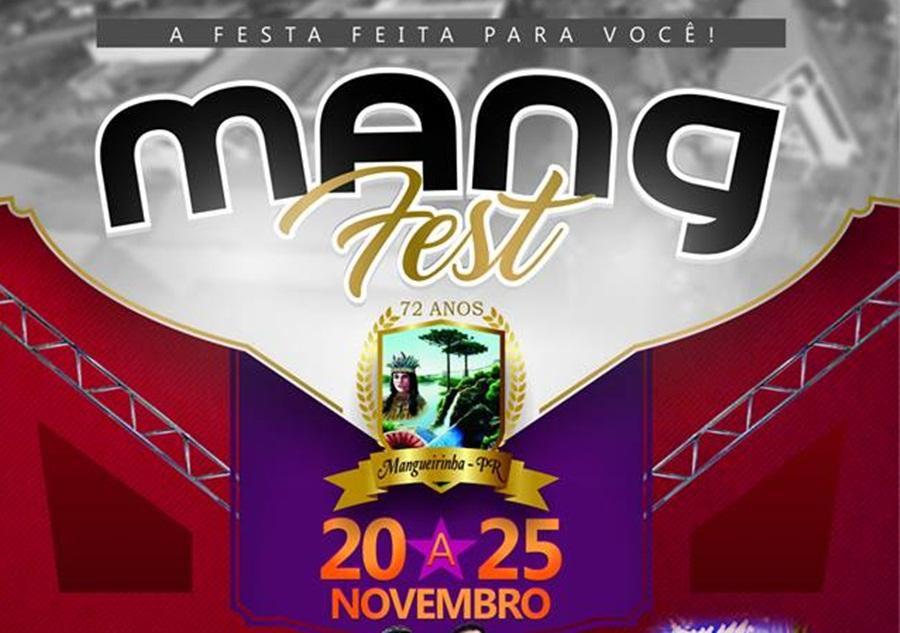 Mang Fest reúne atrações variadas para comemorar os 72 anos de Mangueirinha