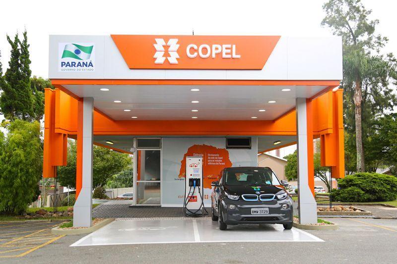 Com eletropostos em Laranjeiras do Sul, Copel inaugura nesta segunda (10) a maior eletrovia do país