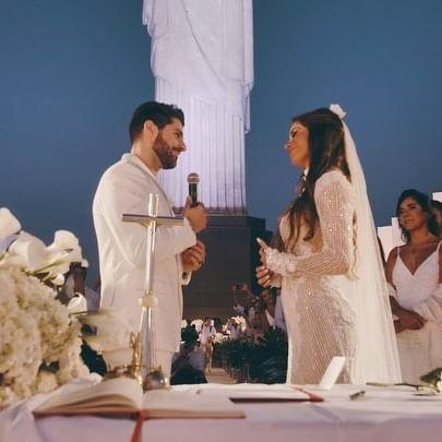 Alok mostra vídeo de casamento com Romana Novais aos pés do Cristo Redentor