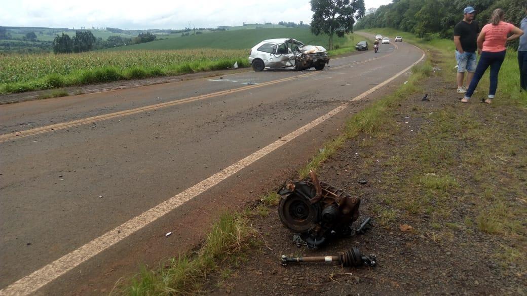 Grave acidente é registrado na BR-158 em Rio Bonito do Iguaçu