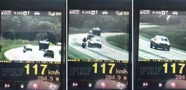 PRF aplicou quase 10 mil multas por excesso de velocidade em 2019 no Paraná