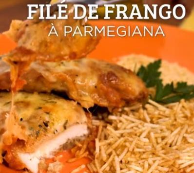 RECEITA DO DIA: FILÉ DE FRANGO À PARMEGIANA