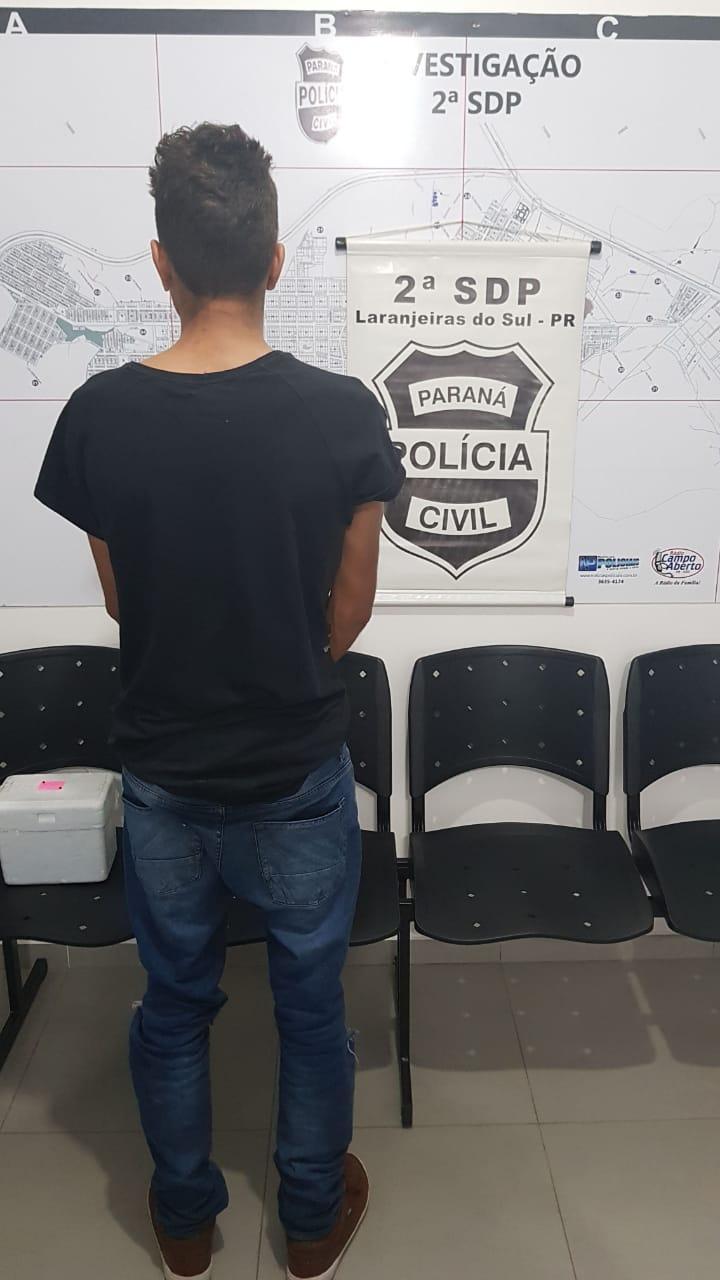 POLÍCIA CIVIL DE LARANJEIRAS DO SUL PRENDE PREVENTIVAMENTE AUTOR DE ROUBO PRATICADO NO CENTRO DA CIDADE E CUMPRE DOIS MANDADOS DE BUSCA