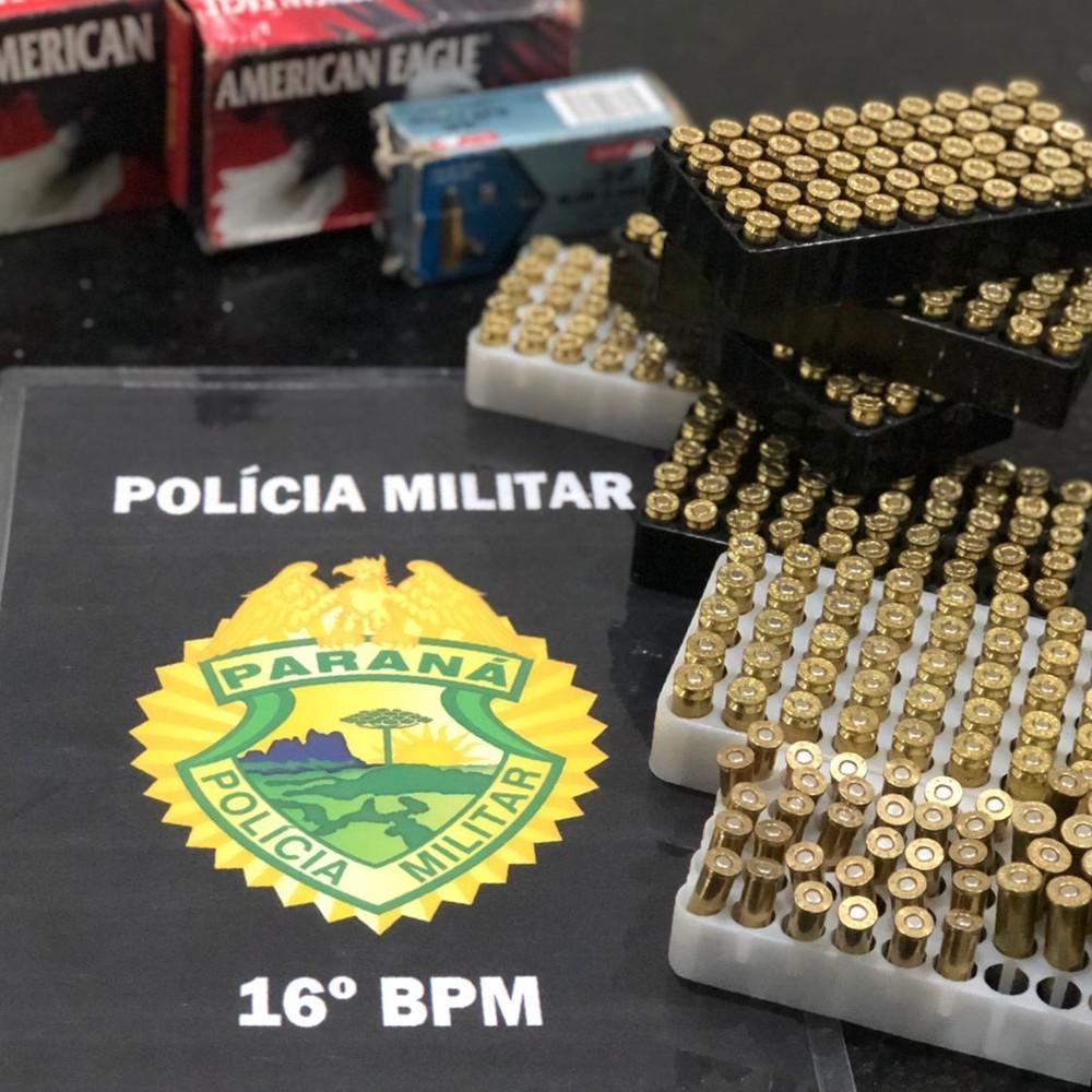 Residência era usada como ponto de comércio de munição em Guarapuava