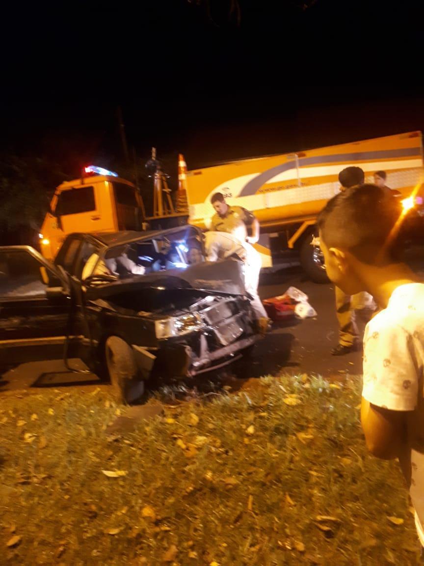 Grave acidente é registrado na avenida Álvaro Natel de Camargo em Laranjeiras do Sul