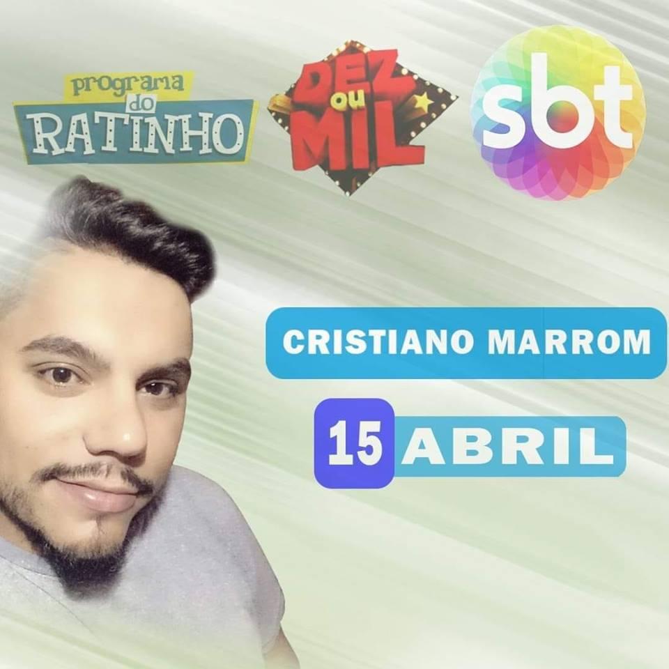 Jovem Cantor de Mangueirinha estará no Programa do Ratinho nesta segunda-feira
