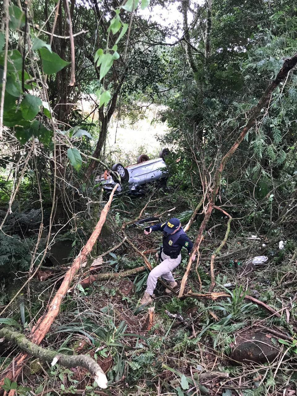 três pessoas ficam feridas após acidente em Laranjeiras do Sul