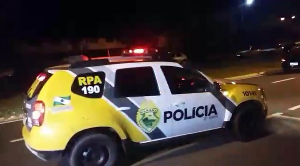 Após fuga de condutor embriagado PM prende dois homens em Laranjeiras do Sul