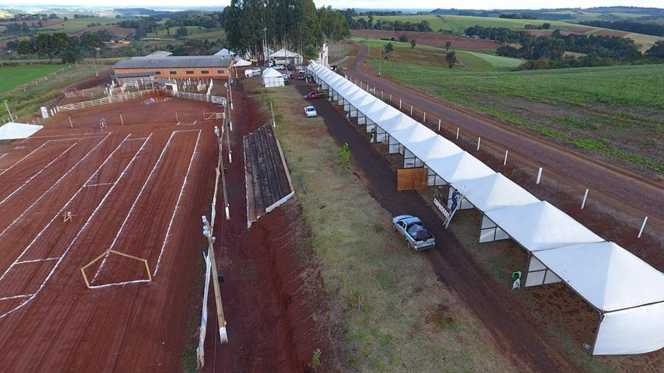 Estrutura montada para a feira