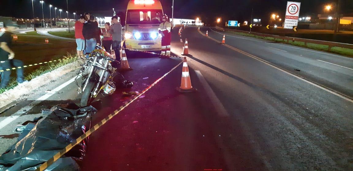 Motociclista morre em acidente na BR 277
