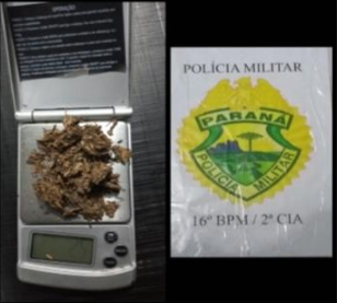 Atendente de bar é preso por porte de drogas em Laranjeiras do Sul