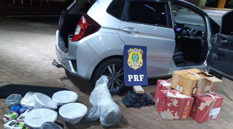 PRF encontra 11,8 quilos de crack em painel de carro no Paraná