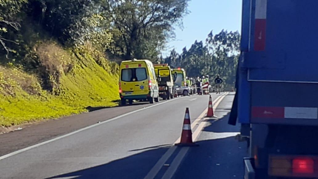 Acidente com vitima fatal na BR 277 entre  Guaraniaçu e Ibema