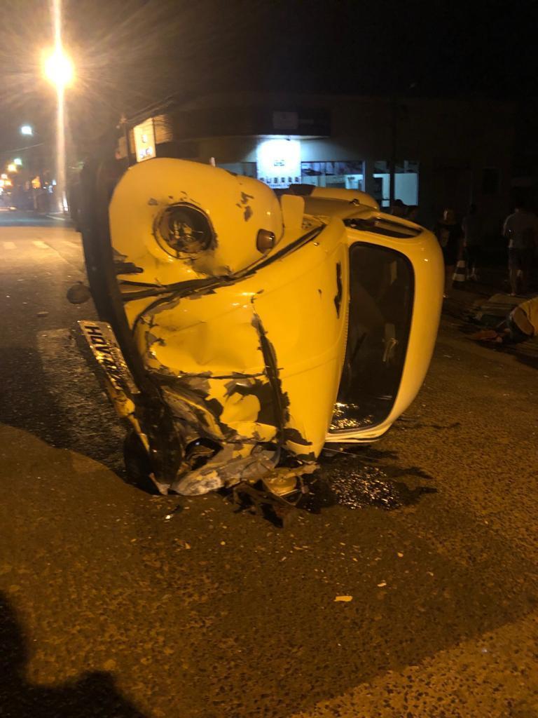 Confira o vídeo do grave acidente registrado no centro de Laranjeiras do Sul