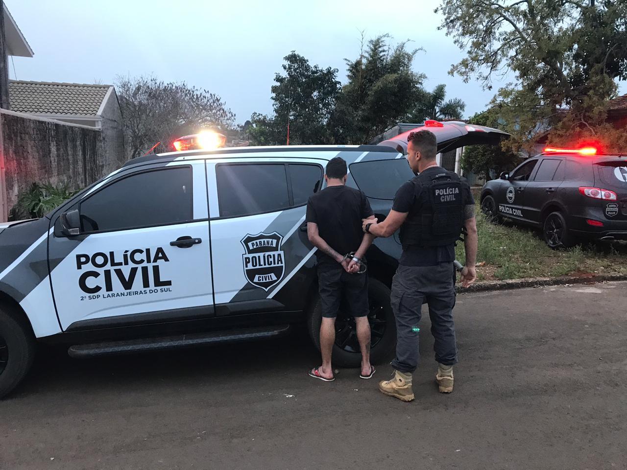 Jovem é preso por tráfico de drogas no centro de Laranjeiras do Sul