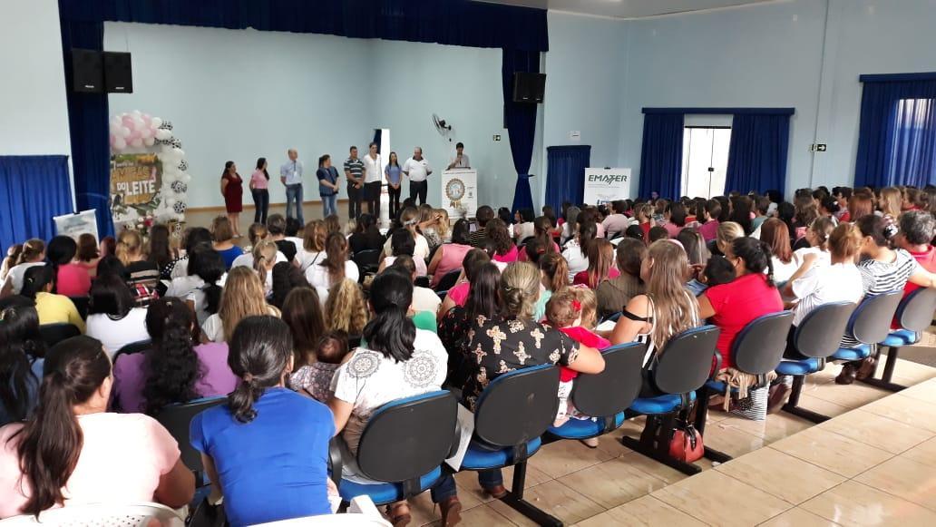 Encontro Amigas do Leite em Virmond, reúne mais de 250 mulheres