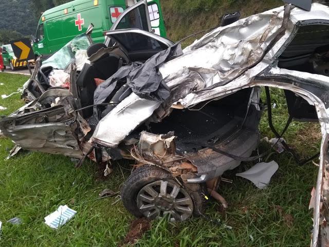 Acidente na Serra da Esperança em Guarapuava deixa três mortos
