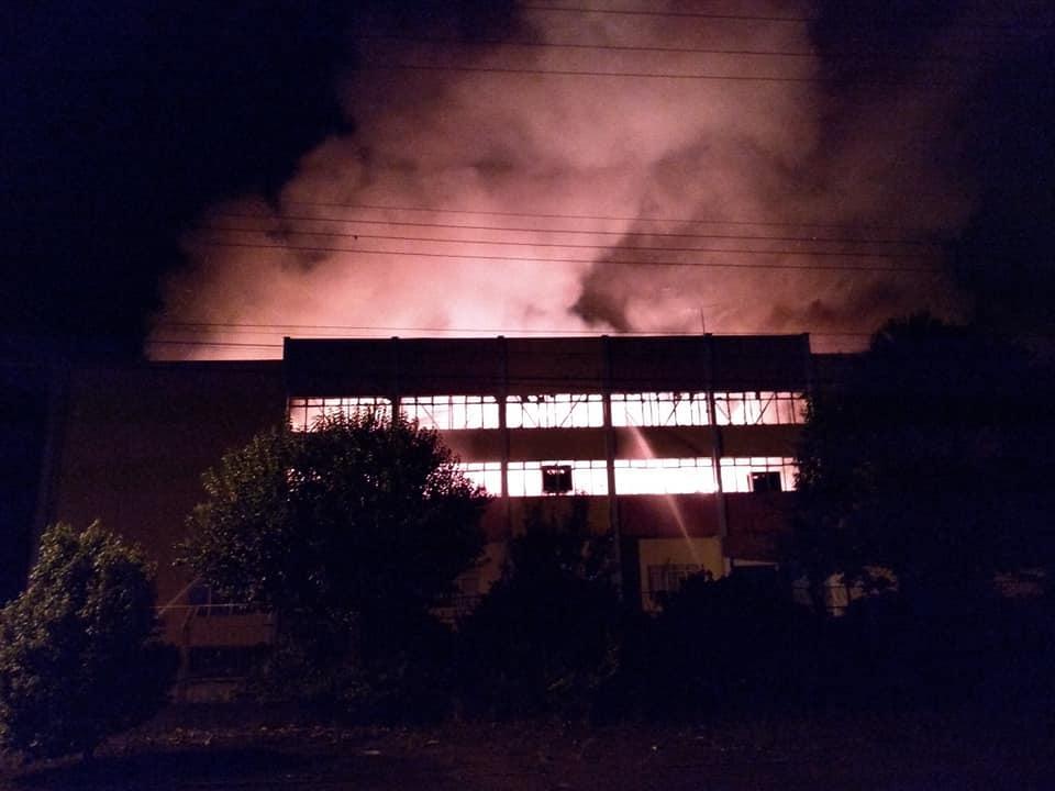 Incêndio atinge sede de Clube em São Domingos-SC