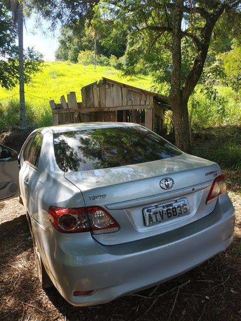 PM encontra veículo utilizado no assalto em Porto Barreiro