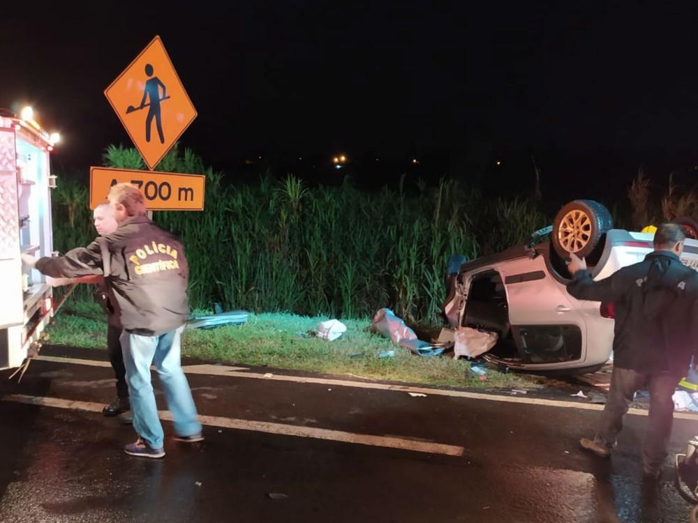 Três pessoas morrem em acidente na PR-444, em Arapongas