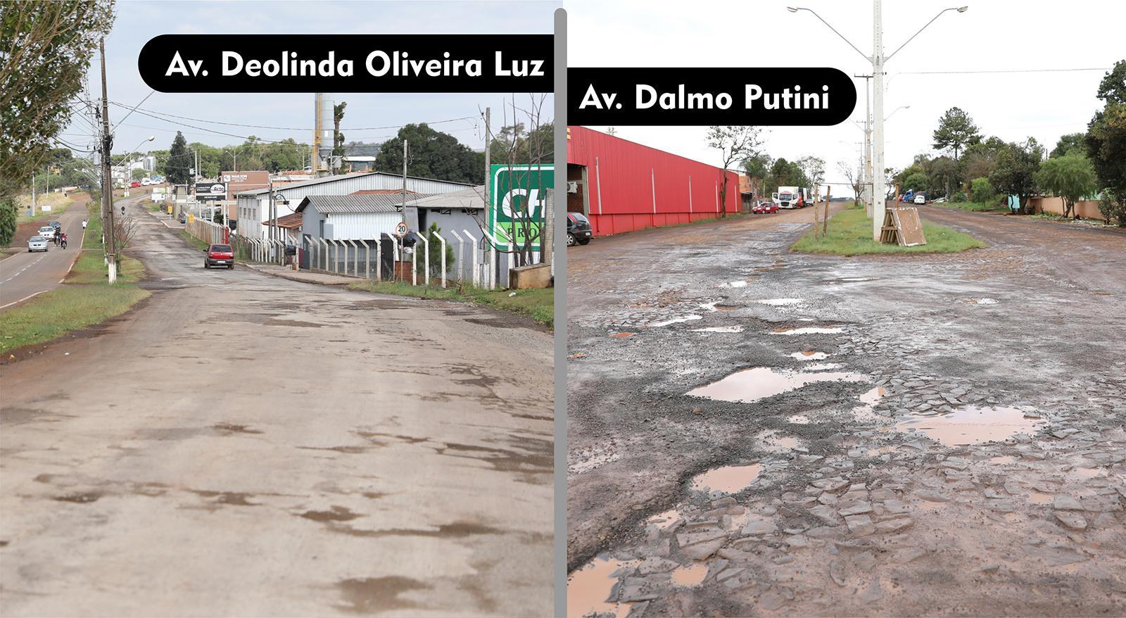 Autorizada licitação para recape asfáltico das Avenidas Deolinda da Luz e Dalmo Putini