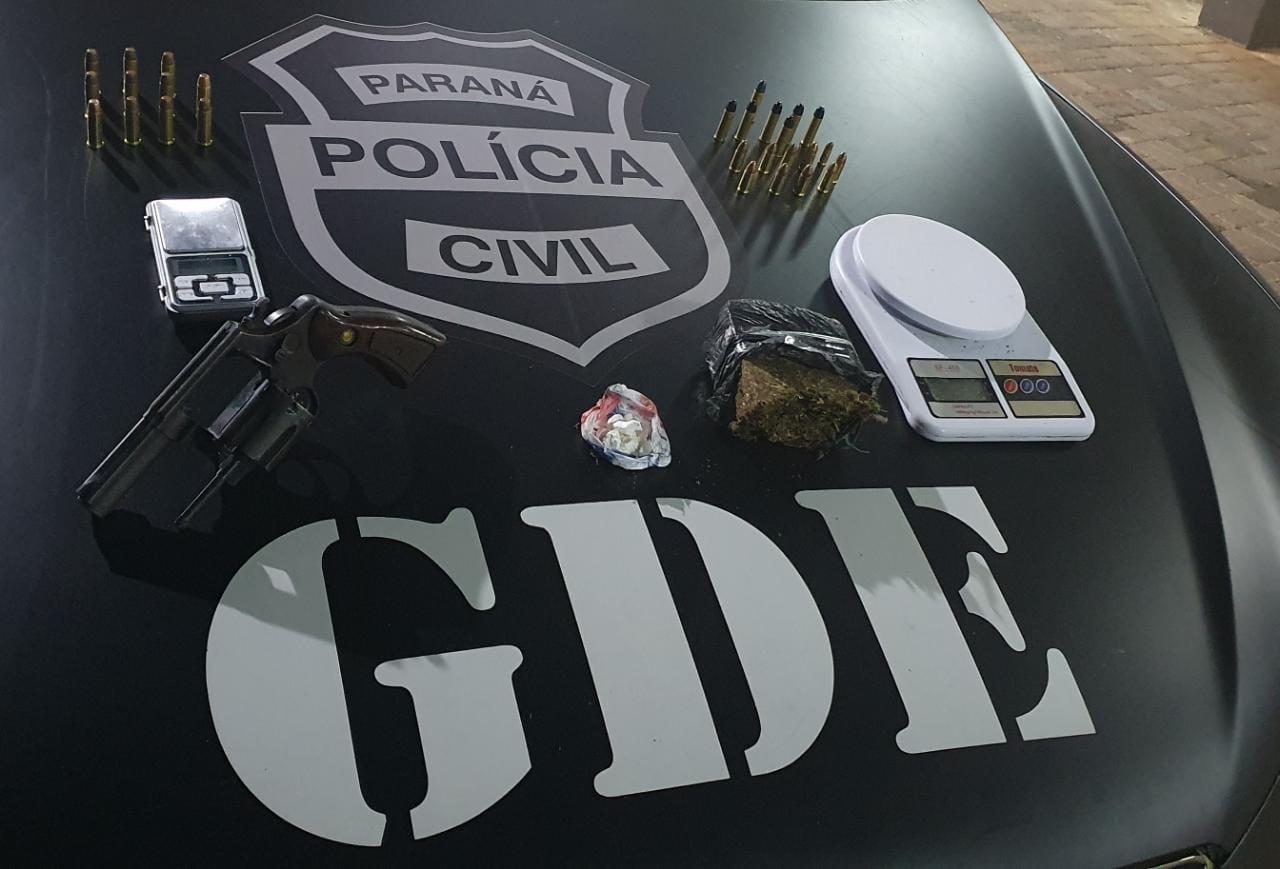 OPERAÇÃO DA POLICIA CIVIL(GDE) COM APOIO DA POLÍCIA PENAL PRENDE TRAFICANTE NO BAIRRO BANCÁRIOS EM LARANJEIRAS DO SUL.