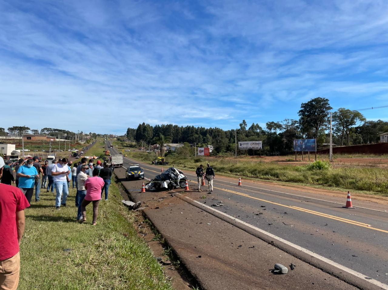 Grave acidente é registrado na BR 277, em Laranjeiras do Sul