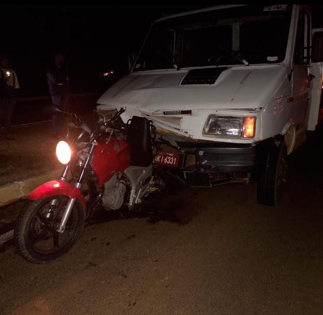 Motociclista fica ferido em acidente na BR 158 em Laranjeiras do Sul